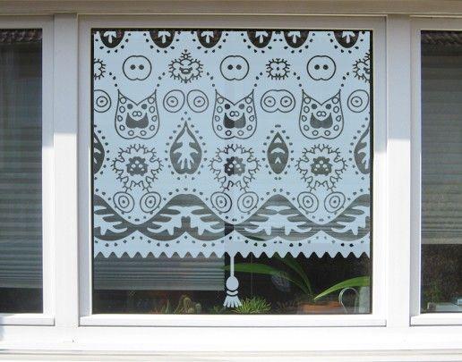 Fensterfolie - Sichtschutzfolie No.UL9 Blattmuster Rollo II - Milchglasfolie