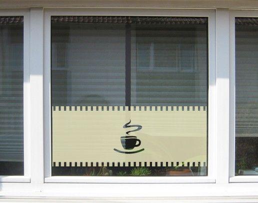 Fensterfolie - Sichtschutzfolie No.UL10 Gardine Tasse I - Milchglasfolie