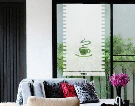 Fensterfolie - Sichtschutzfolie No.UL10 Tasse Rollo III - Milchglasfolie