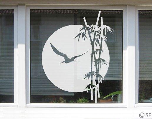Fensterfolie - Fenstertattoo No.SF979 Bambus - Milchglasfolie