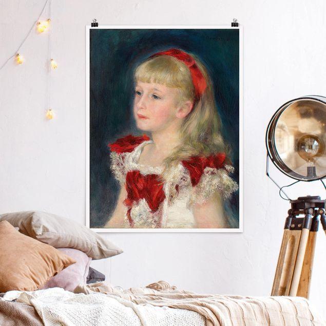 Poster - Auguste Renoir - Mademoiselle Grimprel - Hochformat 3:4