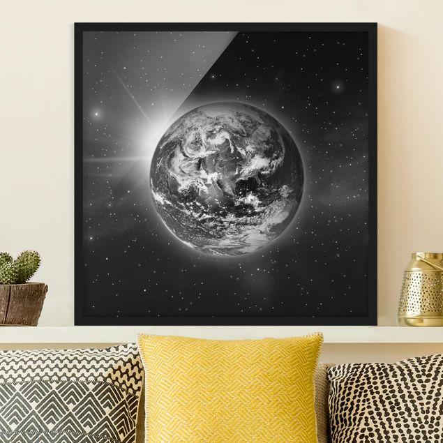 Bild mit Rahmen - Weltall II - Quadrat 1:1