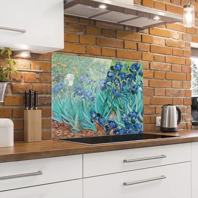 Spritzschutz Glas - Vincent van Gogh - Iris - Querformat 3:4