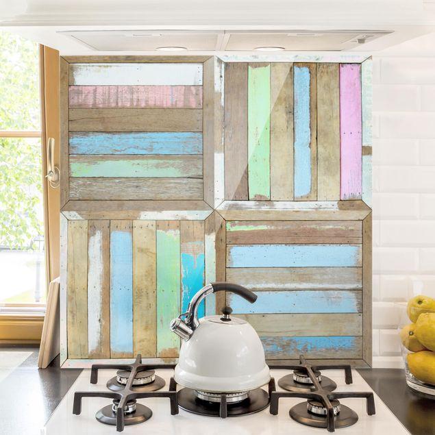 Glas Spritzschutz - Rustic Timber - Quadrat - 1:1