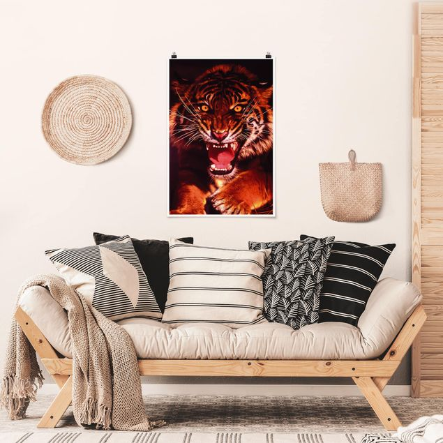 Poster - Wilder Tiger - Hochformat 3:2