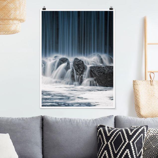 Poster - Wasserfall in Finnland - Hochformat 3:4