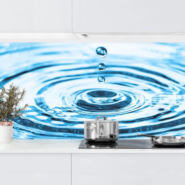 Küchenrückwand - Drops Turbulence