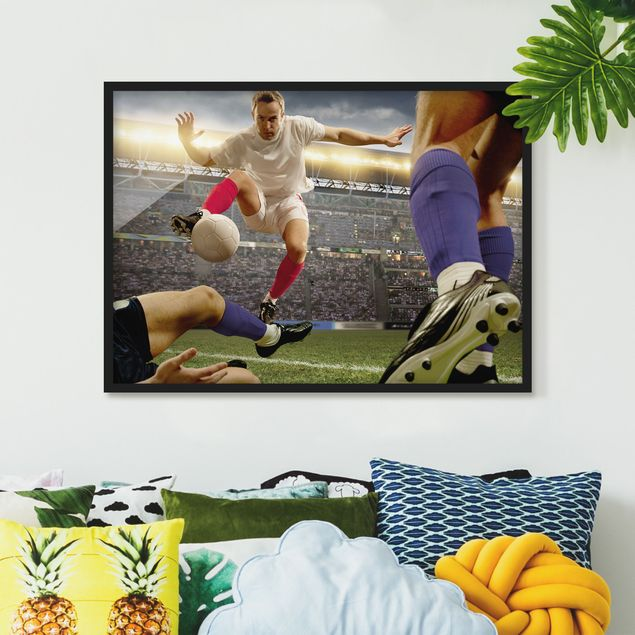 Bild mit Rahmen - Fußballtaktik - Querformat 3:4