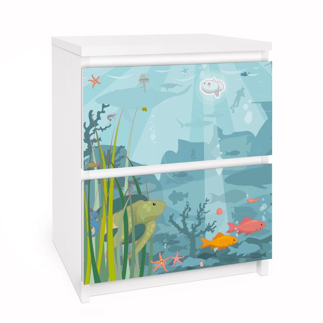 Möbelfolie für IKEA Malm Kommode - Selbstklebefolie No.EK57 Meereslandschaft