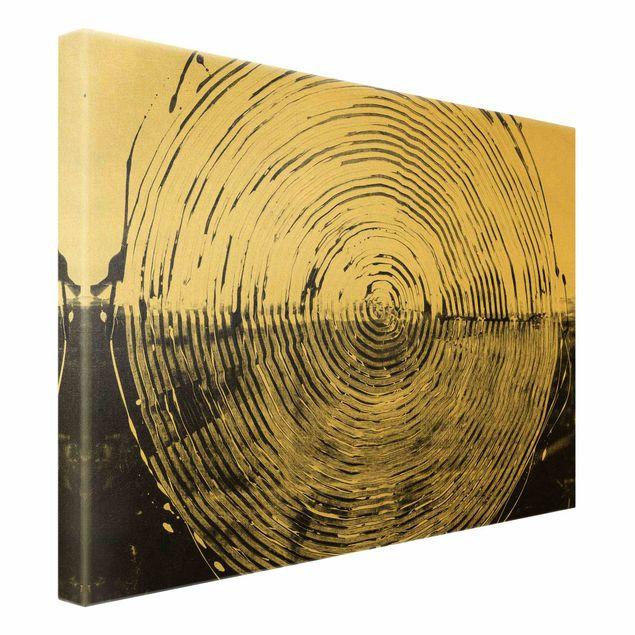 Leinwandbild Gold - Verschmelzung Schwarz Weiß - Querformat 4:3