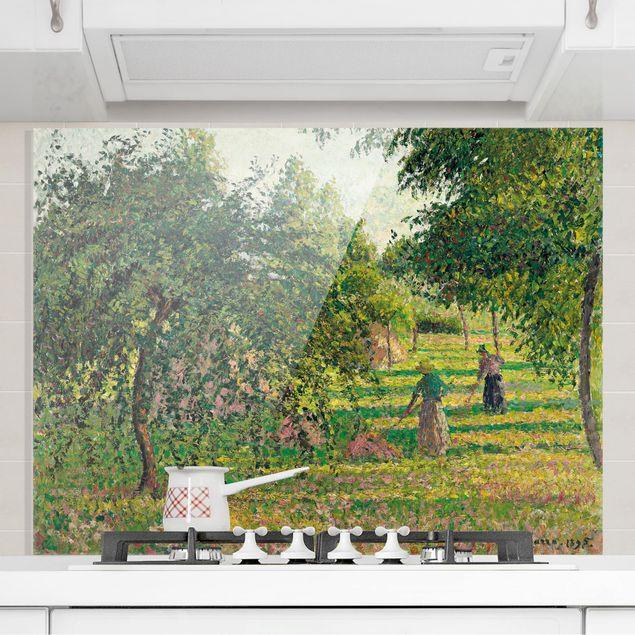Glas Spritzschutz - Camille Pissarro - Apfelbäume - Querformat - 4:3