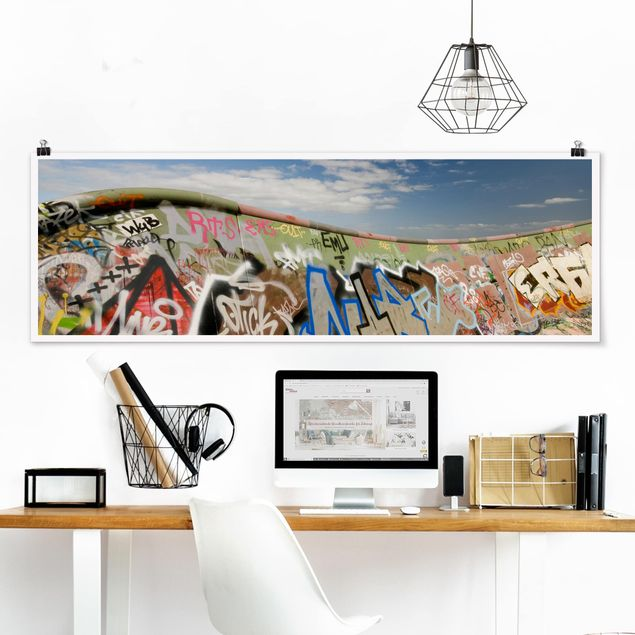 Poster - Paradies für Skater - Panorama Querformat