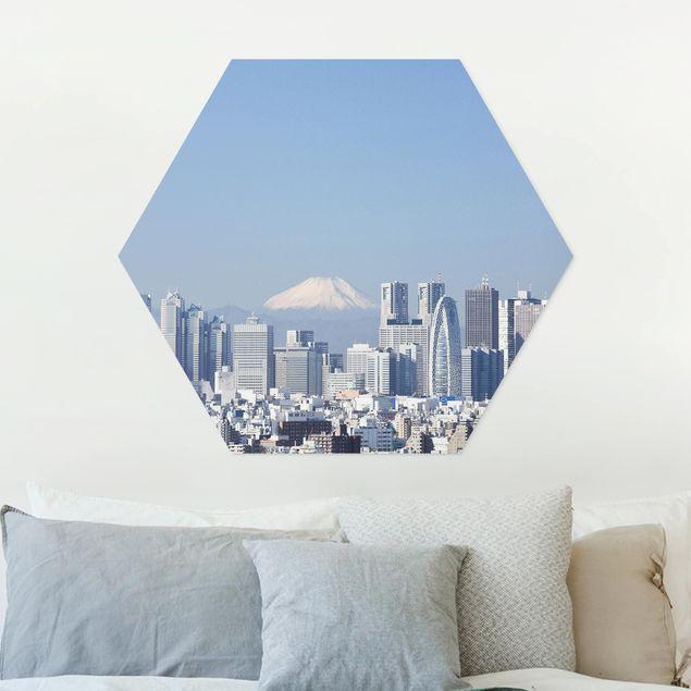 Hexagon Bild Forex - Tokio vor dem Fuji