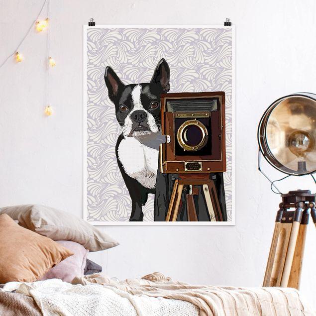 Poster - Tierfotograf Terrier - Hochformat 3:4