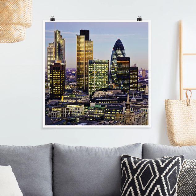 Poster - London City - Quadrat 1:1