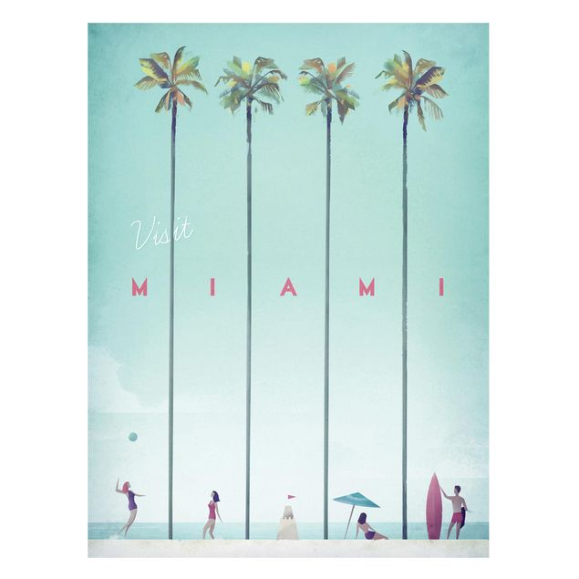 Magnettafel - Reiseposter - Miami - Memoboard Hochformat 4:3