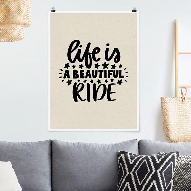 Poster - A beautiful ride - Hochformat 3:4