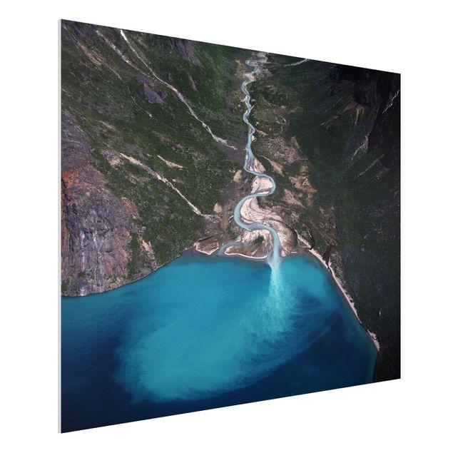 Forex Fine Art Print - Fluss in Grönland - Querformat 3:4