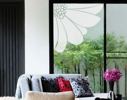 Fensterfolie - Fenstertattoo No.UL23 Blütenecke - Milchglasfolie