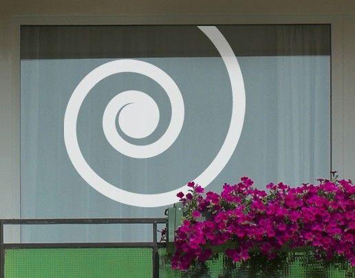 Fensterfolie - Fenstertattoo No.UL26 Spirale - Milchglasfolie