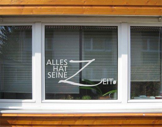 Fensterfolie - Fenstertattoo No.UL502 Alles hat seine Zeit - Milchglasfolie