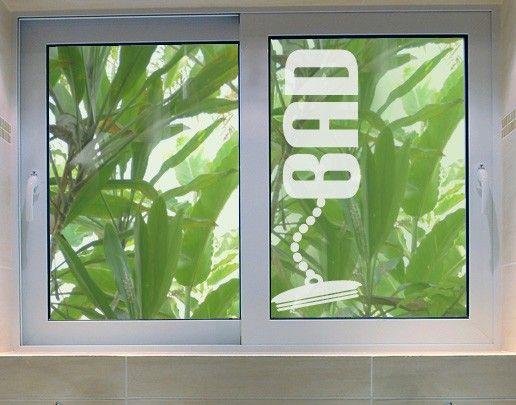 Fensterfolie - Fenstertattoo No.UL16 Bad - Milchglasfolie