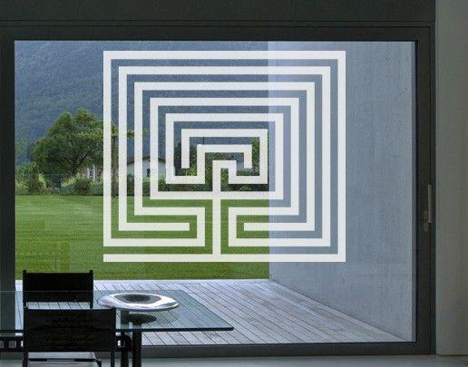 Fensterfolie - Fenstertattoo No.UL13 Labyrinth II - Milchglasfolie