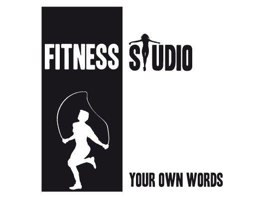 Wandtattoo Sprüche - Wandtattoo Namen No.JO53 Wunschtext Fitnessstudio