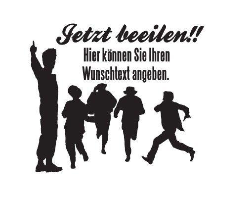 Wandtattoo Sprüche - Wandtattoo Namen No.JO65 Wunschtext Hurry up!