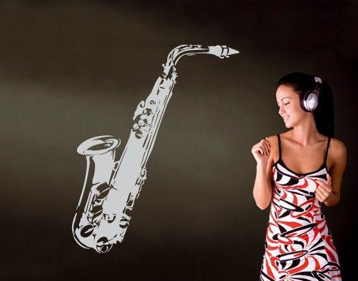 Wandtattoo No.UL37 Saxophon