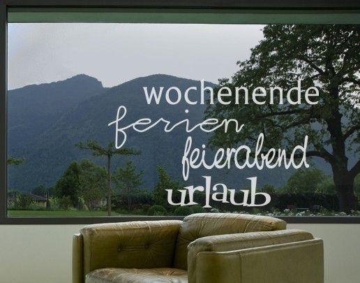 Fensterfolie - Fenstertattoo No.UL34 Urlaub & More - Milchglasfolie