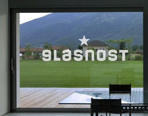 Fensterfolie - Fenstertattoo No.UL33 Glasnost - Milchglasfolie