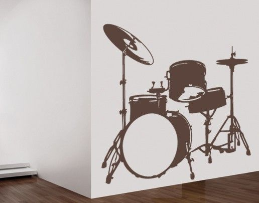 Wandtattoo No.UL38 Schlagzeug