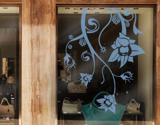 Fensterfolie - Fenstertattoo No.TA41 Extraterrestrial Flowers - Milchglasfolie