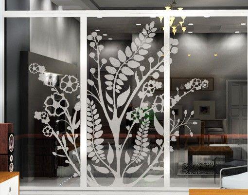 Fensterfolie - Fenstertattoo No.TA43 Bloomy Twine - Milchglasfolie