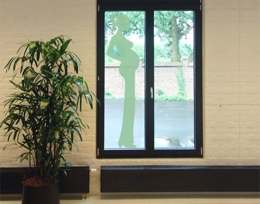 Fensterfolie - Fenstertattoo No.453 Pregnant Silhouette - Milchglasfolie
