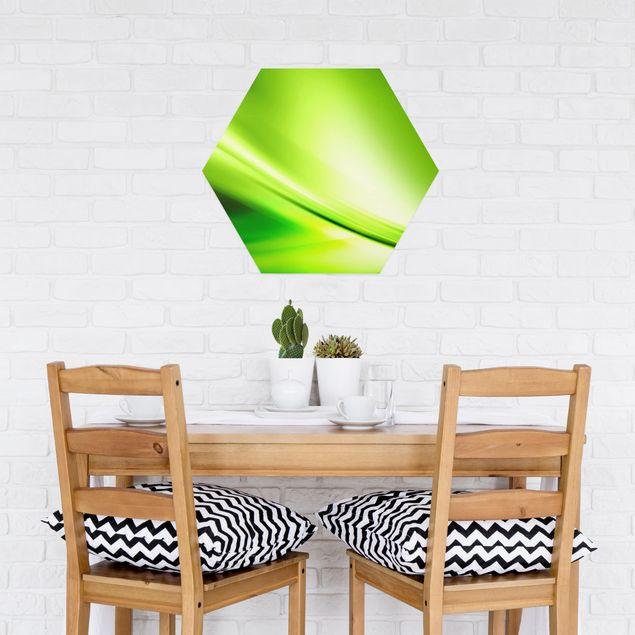 Hexagon Bild Alu-Dibond - Green Valley