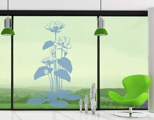Fensterfolie - Fenstertattoo No.FB3 Lotus - Milchglasfolie