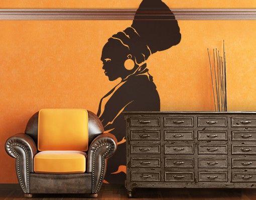 Wandtattoo No.IS33 Zulu Woman