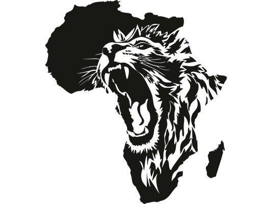 Wandtattoo Löwe No.CG135 Das Herz von Afrika