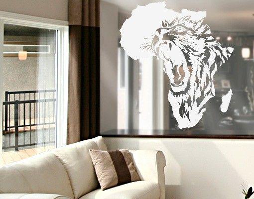 Fensterfolie - Fenstertattoo No.CG135 Das Herz von Afrika - Milchglasfolie