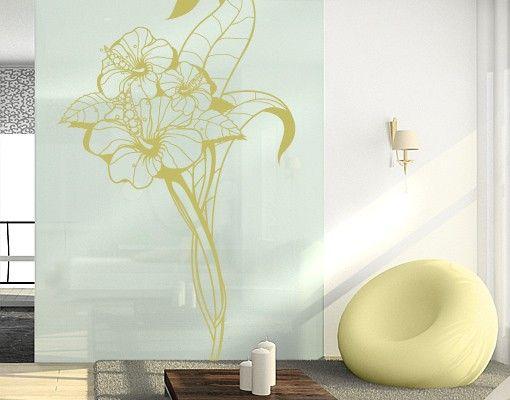 Fensterfolie - Fenstertattoo No.TA64 Hibiscus - Milchglasfolie