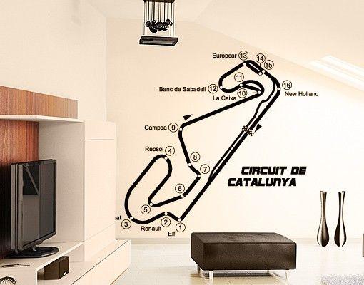 Wandtattoo No.TA72 Barcelona - Circuit de Catalunya