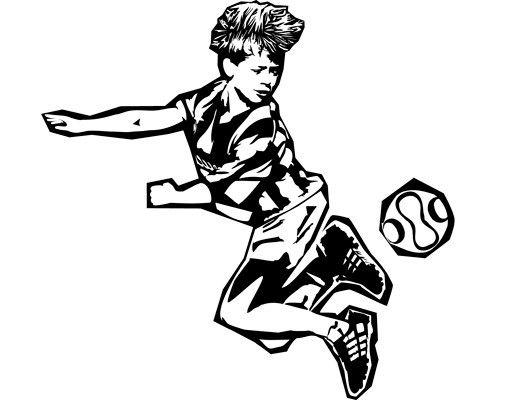 Wandtattoo Fußball - No.CG140 Nachwuchs Fußballer