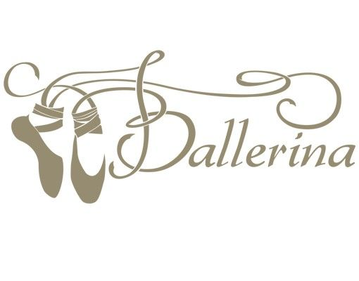 Wandtattoo Ballett - Sprüche - Wandworte No.IS46 Tanzende Ballettschuhe