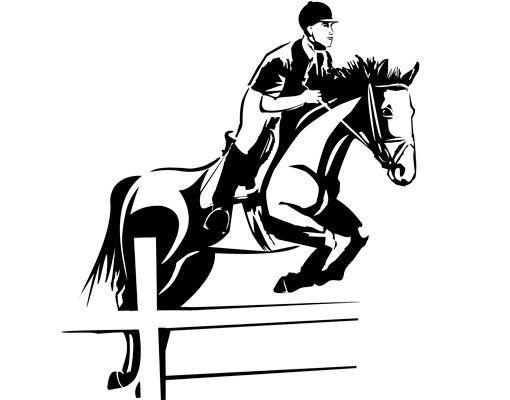Wandtattoo Pferd No.CG141 Springreiter