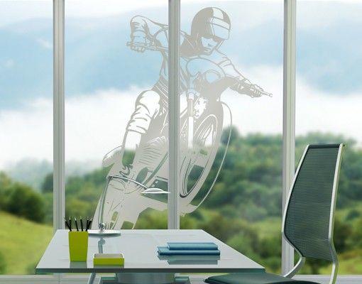 Fensterfolie - Fenstertattoo No.IS49 Motocross - Milchglasfolie