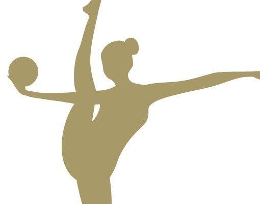 Wandtattoo Kinderzimmer No.FB6 Gymnastin mit Ball