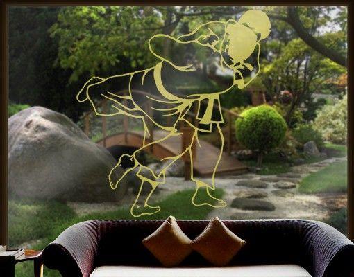 Fensterfolie - Fenstertattoo No.IS56 Judoka - Milchglasfolie