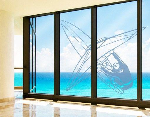 Fensterfolie - Fenstertattoo No.FB9 Windsurfen - Milchglasfolie